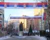 """Сјевер Космета окићен руским заставама: """"Срби и Руси су браћа. Бог је са нама"""""""